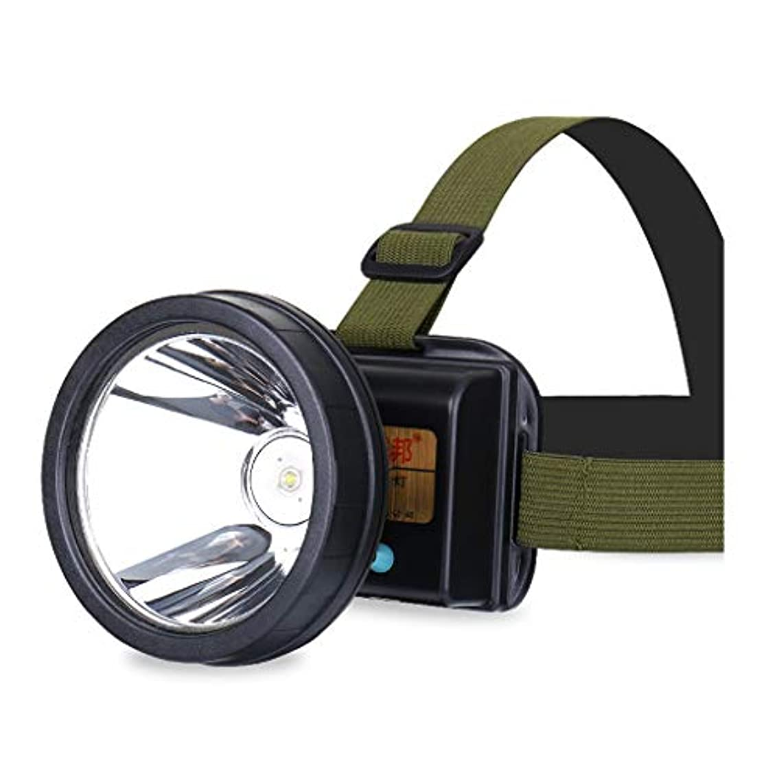 別々にシーンのヒープLEDヘッドライト、グレア充電式スーパーブライトヘッドマウント懐中電灯黄色の白い光釣りライト (色 : 黄色の光)