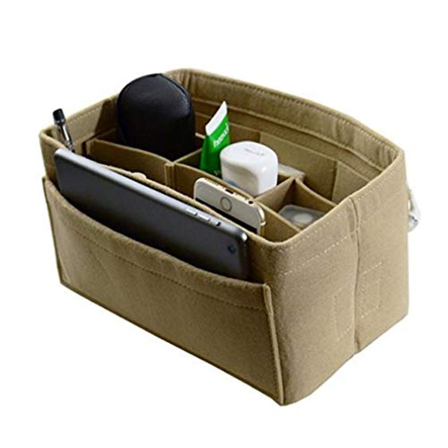 ピット制限された予算JIOLK バッグインバッグ 軽量 フェルト収納ボックス 収納力抜群 インナーバッグ メイクバッグ 自立できる 分類ケース 日常小物収納 大容量 多機能 化粧ポーチ 仕分け