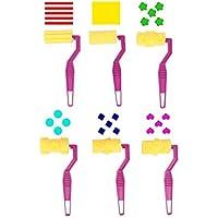 (6 rollers-Pattern) - Carykon Artist Studio Sponge Painters Paint Rollers, set of 6 (6 rollers-Pattern)