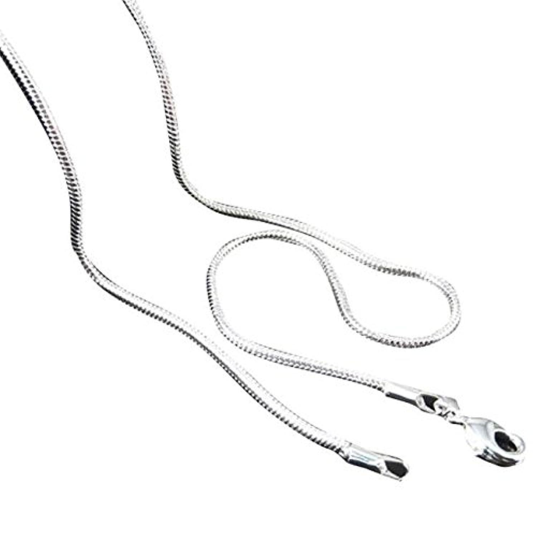 Farantasyネックレス ファッションメンズレディース恋人の銀製の宝石類のヘビの鎖のネックレスを販売する16-22inch