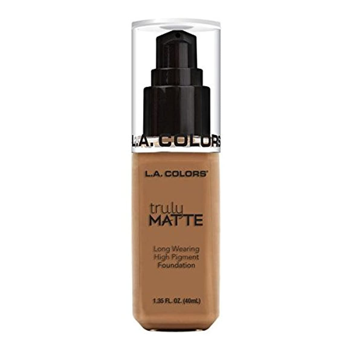 真剣にアッパー電圧(3 Pack) L.A. COLORS Truly Matte Foundation - Deep Tan (並行輸入品)