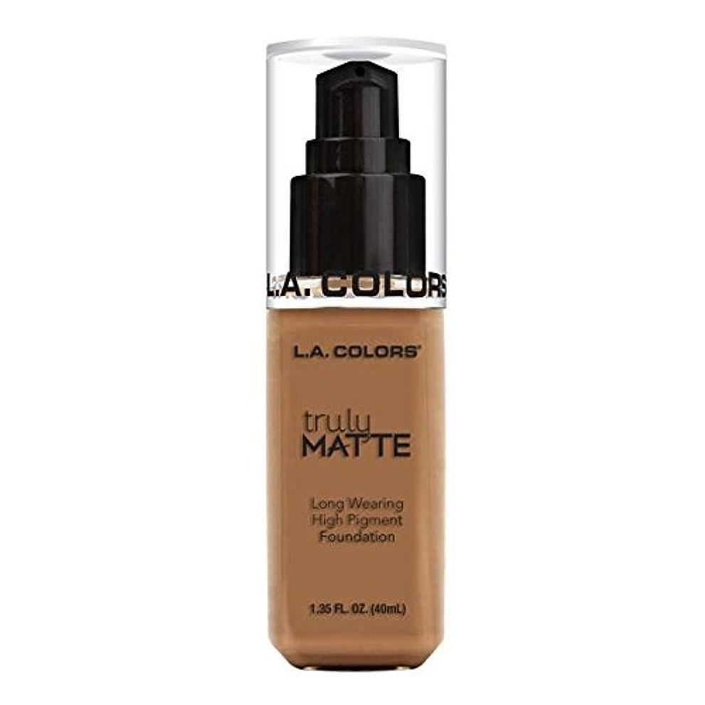 比喩世辞ビタミン(3 Pack) L.A. COLORS Truly Matte Foundation - Deep Tan (並行輸入品)