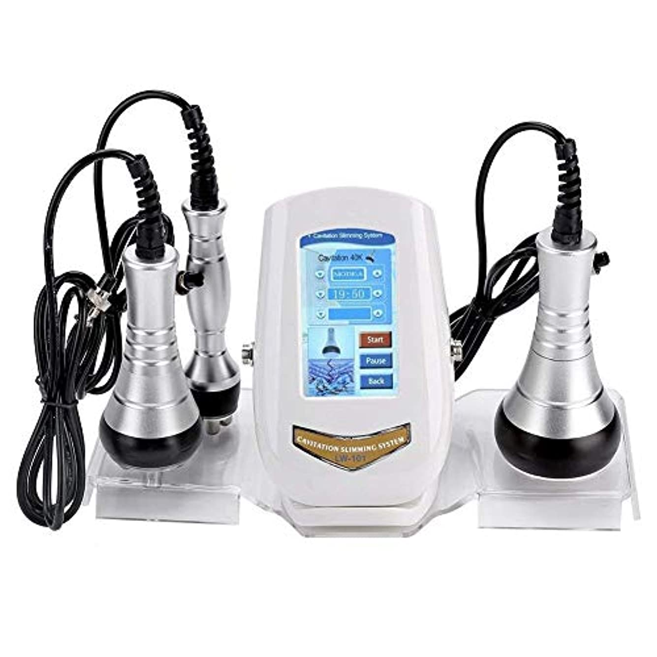 対抗冷える排泄する脂肪燃焼美容機、超音波振動+ EMS +赤外線3 in1キャビテーションボディ痩身デバイス、スキンケアアンチセルライトラジオ周波数肌を引き締める機EMSフェイスアームレッグウエストヒップケア