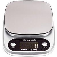 HBLIFE デジタルキッチンスケール 1g単位 最大10kgまで 計量可能 風袋引き機能付き クッキングスケール