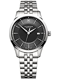 [ビクトリノックス] Victorinox 腕時計 Swiss Army Alliance Men's Watch Silver 40mm Black Dial クォーツ 241801 【並行輸入品】