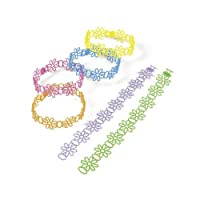 [Party902]Party902 144 Adorable Vinyl Jelly Daisy Bracelets; Great Party Favor! 24-1219 [並行輸入品]