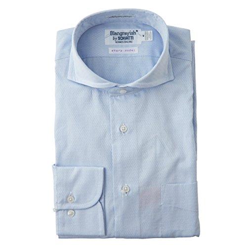 SCHIATTI(スキャッティ)Blangrayish  ホリゾンタルカラー ドレスシャツ BL col 23 (M)