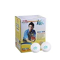 Kalmar 卓球、V40 + Mm、1スター卓球100 /箱、ABS樹脂、新素材、トレーニングボール Table Tennis Balls-Table Tennis Balls Balls (Color : White, Edition : 1 star)