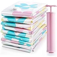 Vacuum Storage Bags Sunflower Print, Clothes Comforters Blankets Mattress Pillows (3X Jumbo, 2 x Large,3 x Medium, 2X Small) with Pump