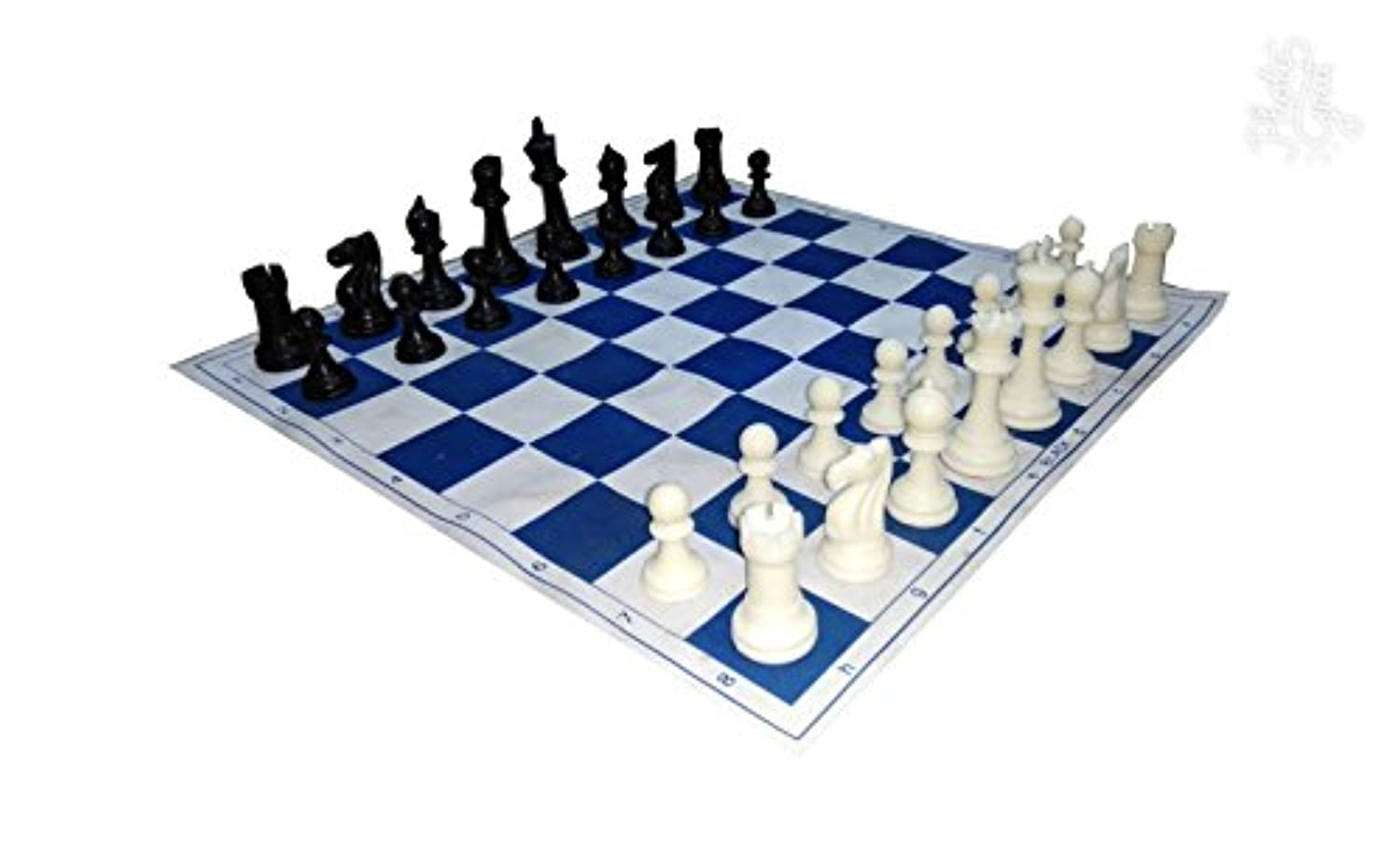 King Wholesale Chess Archer Chess Set Combo - Navy Blue with Black Canvas Bag