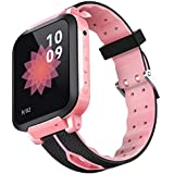 SODIAL Y30 Kids Smartwatch Waterproof GPRS LBS Location SIM Card Swimming Camera Watch Two Way Talk Cute Bracelet Wristband(Pink and Black)