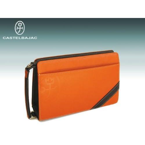 [カステルバジャック] castelbajac メンズワンファスナーセカンドバッグ(ドロワット)071204 (オレンジ)