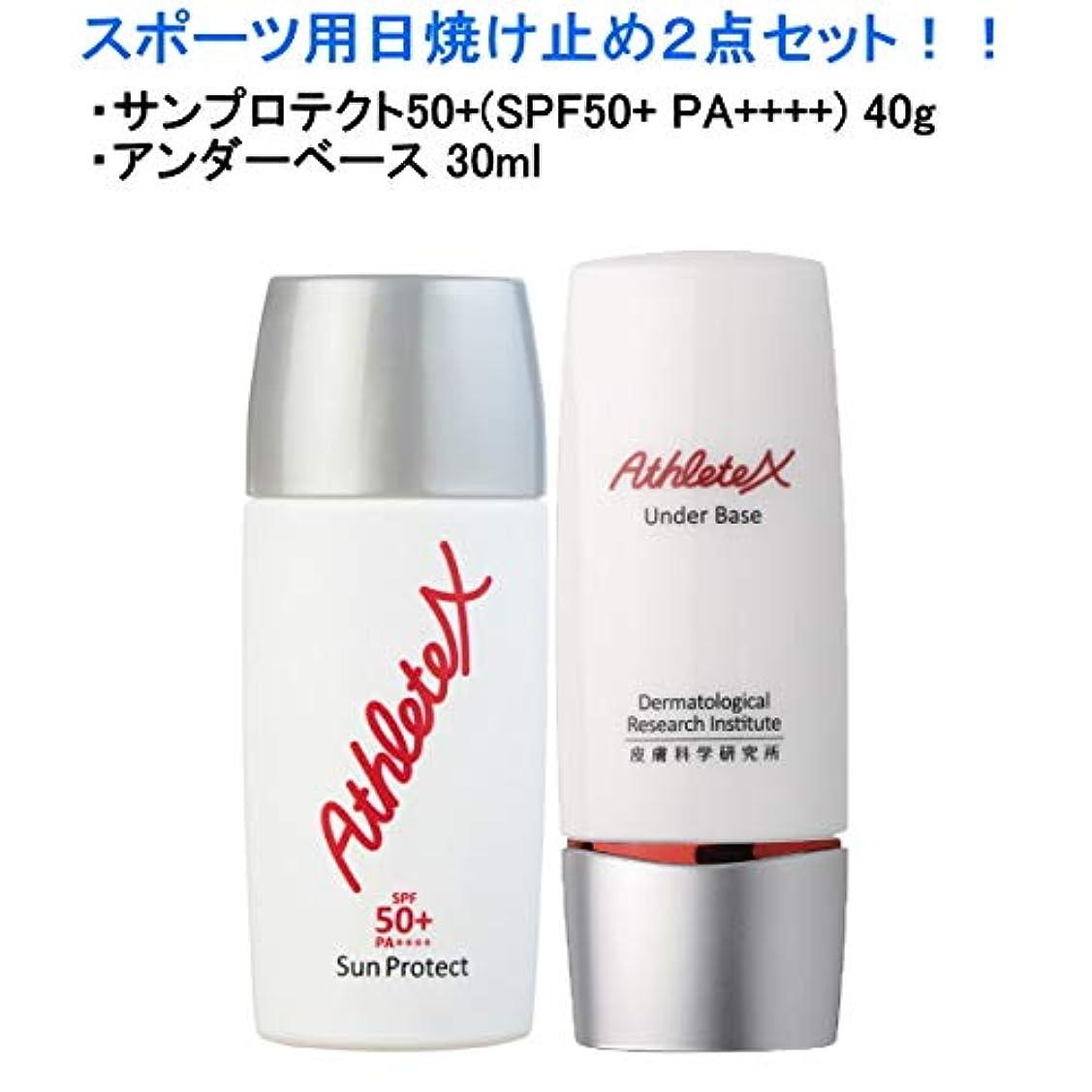 唇さらにビルダーAthleteXスポーツサンプロテクト50+、アンダーベース/セット