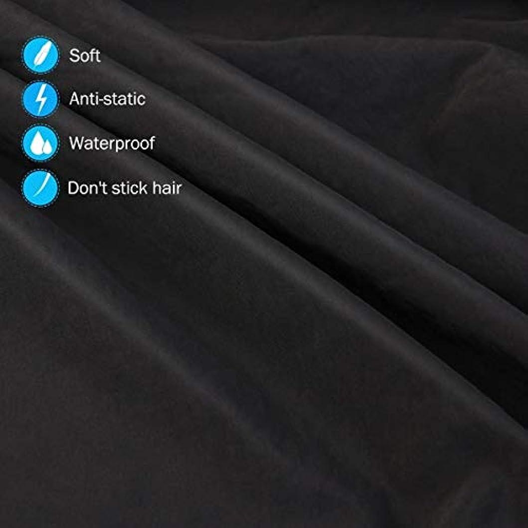 ジュース醜い処理HIZLJJ 大広間の家の理髪師の観覧の窓が付いている理髪ケープのガウン毛の切断のための目に見える観覧の窓が付いている防水大広間のガウンのエプロン