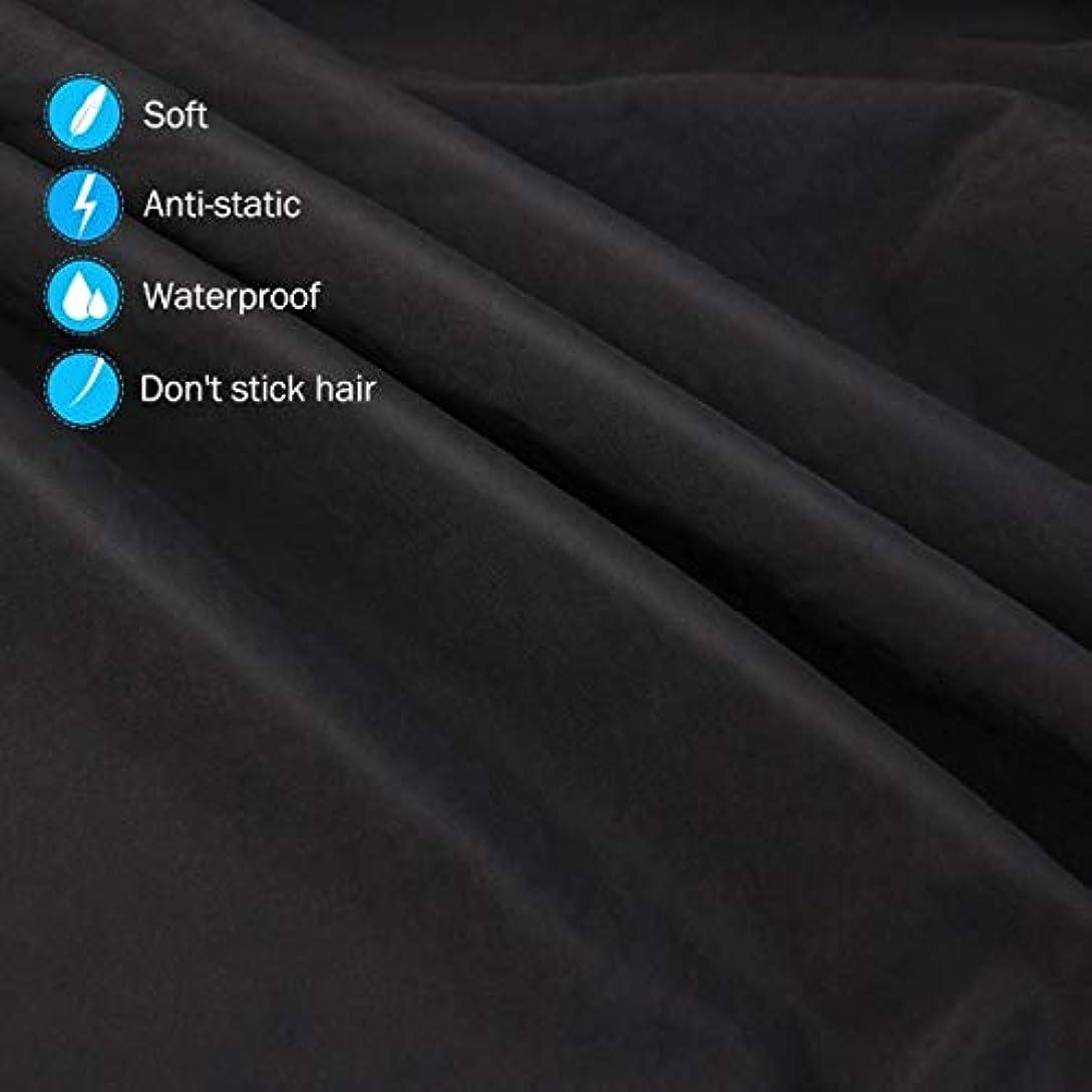 ペストリー進む検査官HIZLJJ 大広間の家の理髪師の観覧の窓が付いている理髪ケープのガウン毛の切断のための目に見える観覧の窓が付いている防水大広間のガウンのエプロン