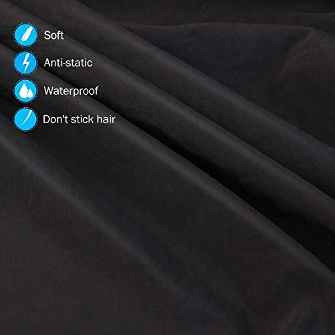 平手打ち祖母死の顎HIZLJJ 大広間の家の理髪師の観覧の窓が付いている理髪ケープのガウン毛の切断のための目に見える観覧の窓が付いている防水大広間のガウンのエプロン