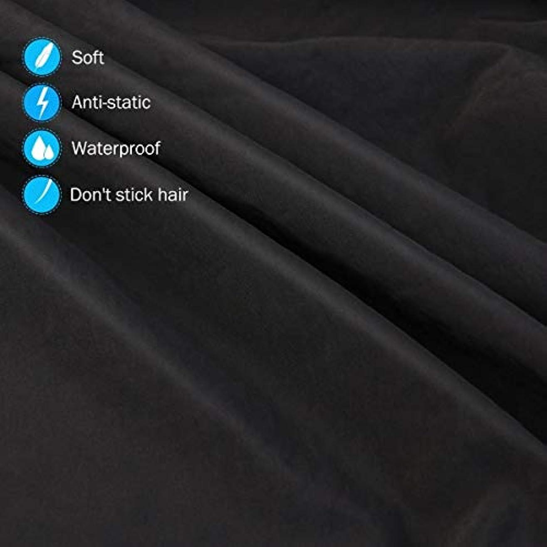 へこみ威する暴露するHIZLJJ 大広間の家の理髪師の観覧の窓が付いている理髪ケープのガウン毛の切断のための目に見える観覧の窓が付いている防水大広間のガウンのエプロン
