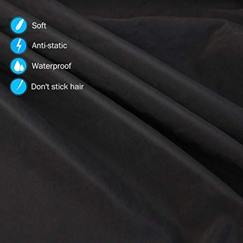 常習者激しいサイバースペースHIZLJJ 大広間の家の理髪師の観覧の窓が付いている理髪ケープのガウン毛の切断のための目に見える観覧の窓が付いている防水大広間のガウンのエプロン