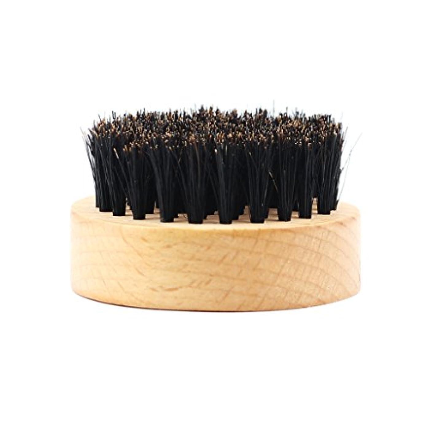 利用可能珍しい好戦的なHomyl 髭ブラシ 男性 ひげ剃り 天然木ハンドル ひげそり グルーミング 2タイプ選べる - #2