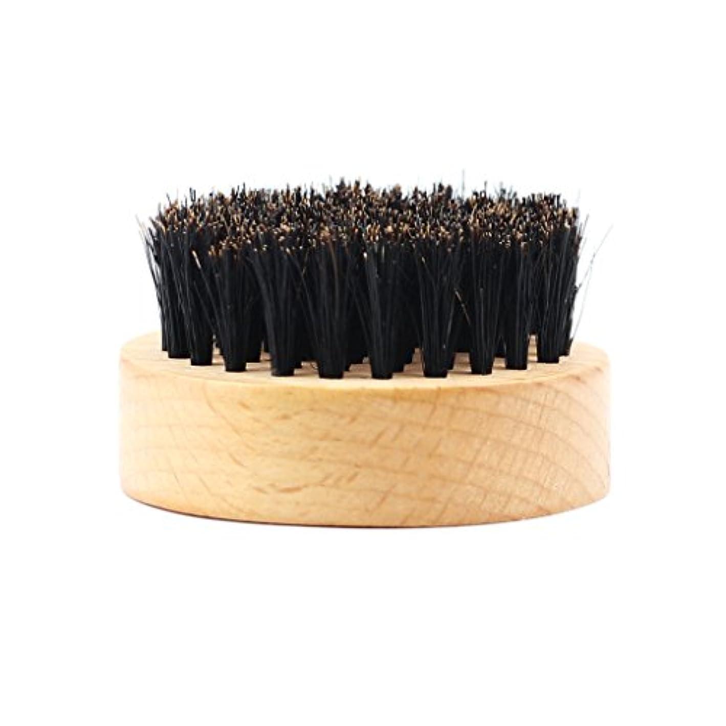 ナビゲーション説教法的Homyl 髭ブラシ 男性 ひげ剃り 天然木ハンドル ひげそり グルーミング 2タイプ選べる - #2