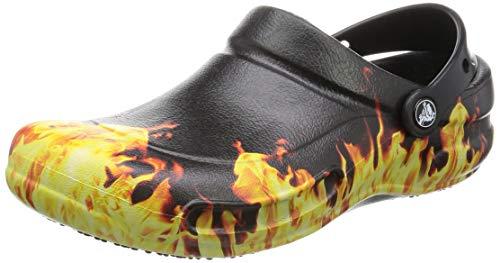 f40ffb5e403237 (クロックス) Crocs ユニセックス Bistro Flames グラフィック クロッグ 紳士サンダル カジュアル 男女兼用 (