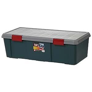アイリスオーヤマ ボックス RVBOX 900D グレー/ダークグリーン 幅90x奥行40x高さ28cm