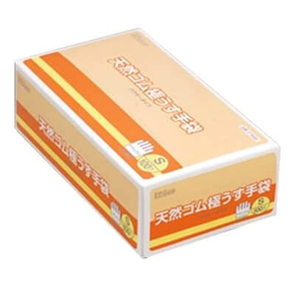 魂上昇差別的【ケース販売】 ダンロップ 天然ゴム極うす手袋 S ナチュラル (100枚入×20箱)