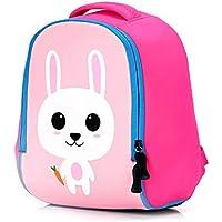 CXQ かわいい子供の学校のバックパックピンクのバニーの漫画1?6歳の少年少年学校のショルダーの小さな袋 (Size : M)