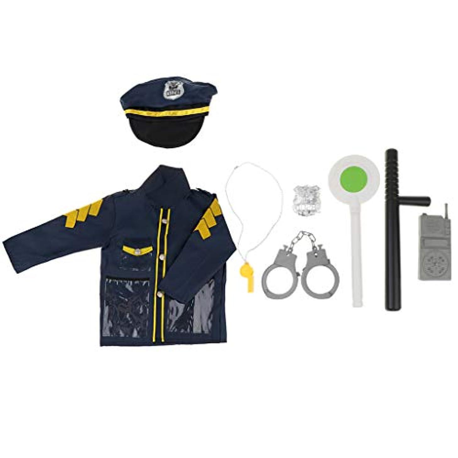 ハードリング品揃え輸血B Blesiya 警官 警察の役割 演劇衣装 コスチューム 子どものため 服ツールセット