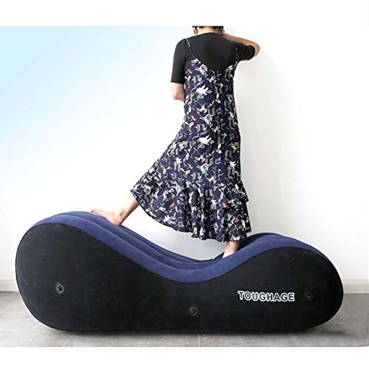 緩むショルダーフィラデルフィアRabugoo 大人のおもちゃ 性は大人の膨脹可能なソファーのおもちゃのエアクッションの女性の性の目的をもてあそびます