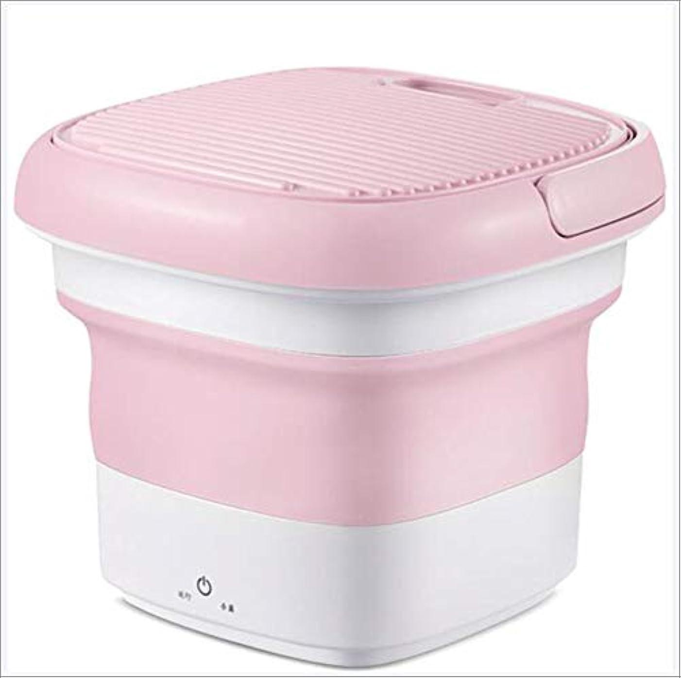 考えた聴覚参加するミニキャンプの洗濯機 ポータブル洗濯機 排水管で キャンプ寮アパートカレッジのお部屋,ピンク