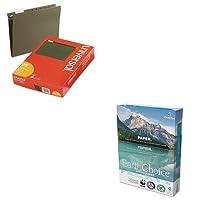 kitdmr2700unv14115–Valueキット–Domtar用紙EarthChoiceオフィス用紙( dmr2700)とユニバーサルHangingファイルフォルダ( unv14115)