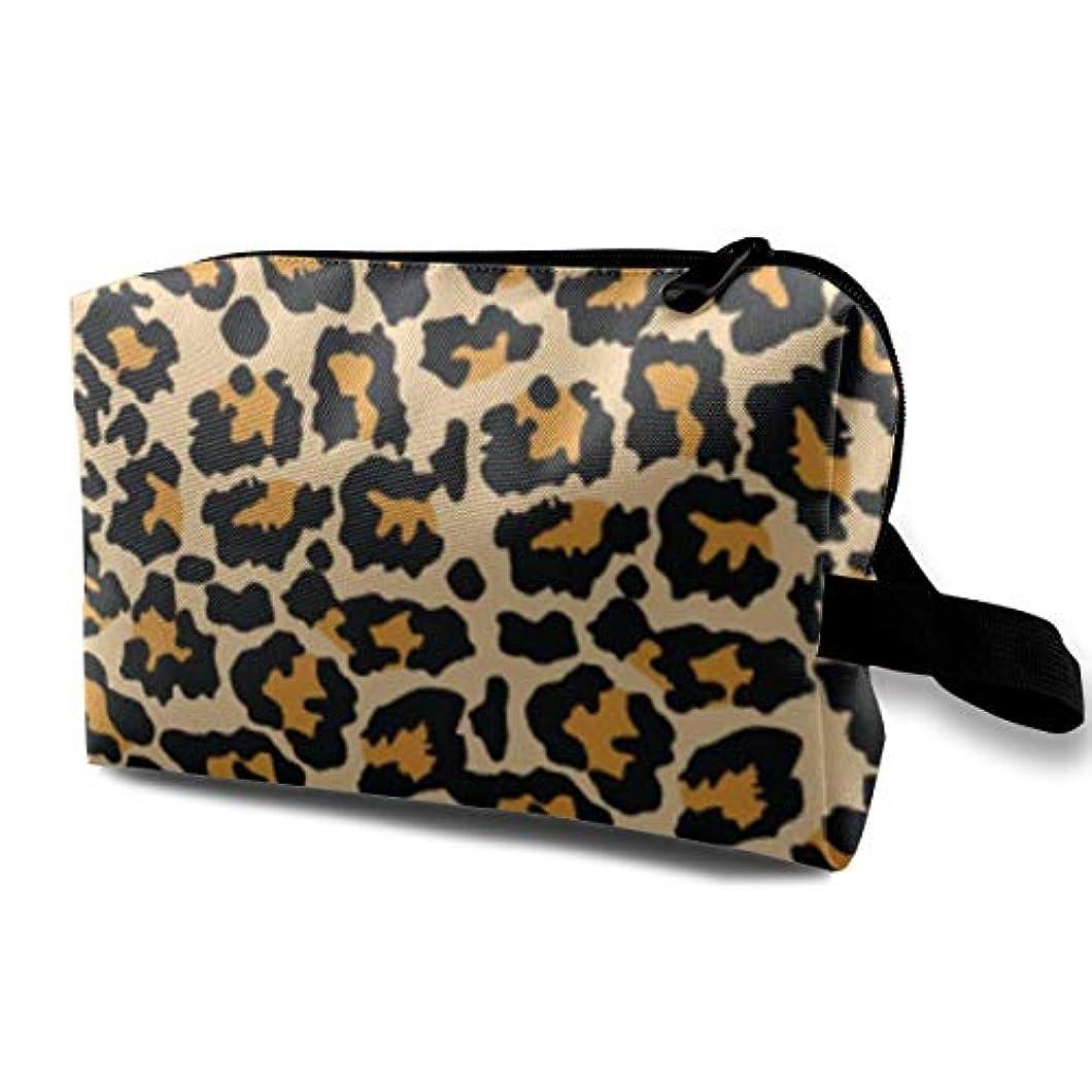 生き残ります文字通り年次Sexy Animal Leopard 収納ポーチ 化粧ポーチ 大容量 軽量 耐久性 ハンドル付持ち運び便利。入れ 自宅?出張?旅行?アウトドア撮影などに対応。メンズ レディース トラベルグッズ