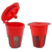 funnytoday365再利用可能なコーヒーフィルターカップ交換パーツマシンコーヒーフィルタfor Keurig 20/ k500/ k400
