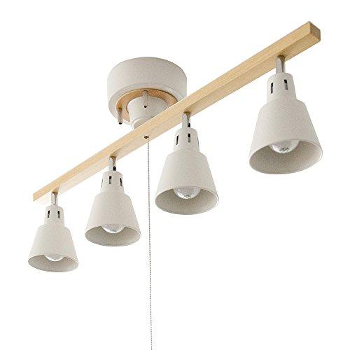 RoomClip商品情報 - エア・リゾーム シーリングライト LED 電球対応 4灯 間接照明 スポットライト manis〔マニス〕 ホワイト×ナチュラル(ストレート)