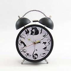 目覚まし時計 ネコ(ブラック)