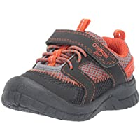 OshKosh B'Gosh Unisex-Child OS191206 Lago Boy's Mesh Athletic Bumptoe Sneaker Grey Size: