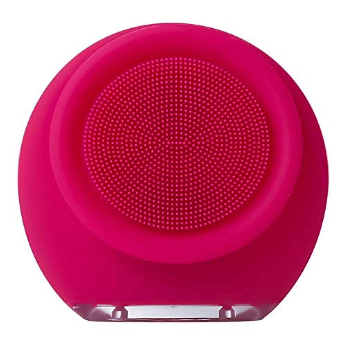 透過性ホバー原告ZHILI フェイスクリーナー防水電動フェイスクレンザーシリコンフェイシャルブラシマッサージャー削除肌にきびにきび毛穴美容ツール (Color : Pink2)