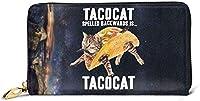 長財布 大容量 TACOCATはTACOCAT Kitty Cat Navy Graphic メンズ ラウンドファスナー 取り出しやすい 小銭入れ レザー カード 本革人気 男女兼用 財布