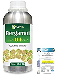 Bergamot (Citrus aurantium) 100% Natural Pure Essential Oil 2000ml/67 fl.oz.
