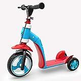 子供用ツーインワンキックスクーター 1?6歳のスクーター 多機能三輪スクーター