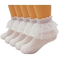 5 Pairs Toddler Baby & Child Girls Lace Princess Socks Girls Ankle Cotton Socks