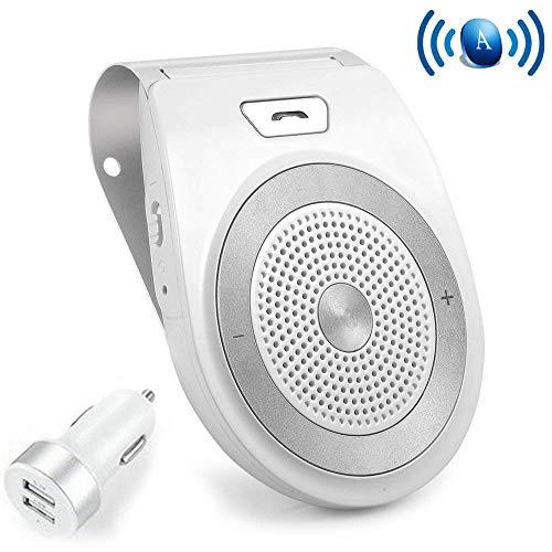 NETVIP 車載用 Bluetoothスピーカー ポータブルスピーカー ハンズフリー通話 音楽再生 ブルートゥース4.1 サンバイザークリップ付き T821 車/家/オフィスに用