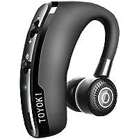 【Amazon.jp限定】TOYOKI Bluetooth ヘッドセット ブルートゥース 完全 ワイヤレス イヤホン 片耳 高音質 スポーツ 通勤 通学 ハンズフリー 通話 マイク内蔵 Android Iphone スマートフォンに対応 (ブラック)