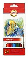 KOH - I - NOOR魚Aquarell Coloured Pencils (セットof 24)
