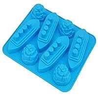 LilyAngel DIY自家製アイスキューブ金型アイス金型自家製アイスキューブボックスアイスキューブ金型 (Color : ブルー)