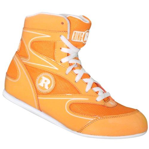 (3, Neon Orange) - Ringside Diablo Muay Thai MMA Wrestling Boxing Shoes