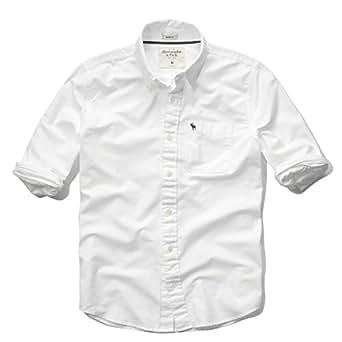 (アバクロンビーアンドフィッチ) Abercrombie&Fitch シャツ 長袖 オックス 無地シャツ メンズ AM52021 XLサイズ ホワイト (正規品)