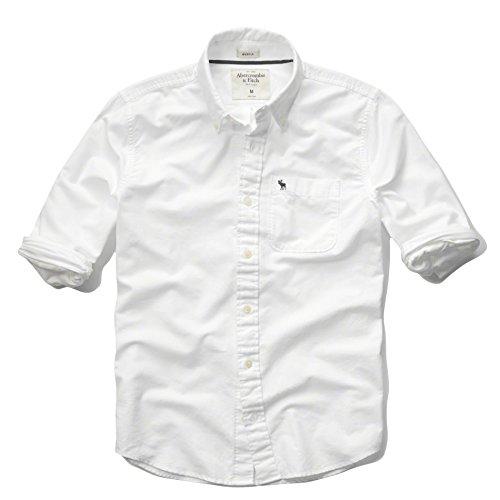 (アバクロンビーアンドフィッチ) Abercrombie&Fitch シャツ 長袖 オックス 無地シャツ メンズ AM52021 ホワイト (正規品)