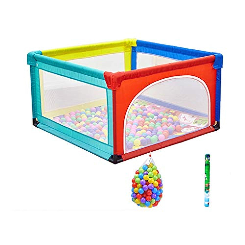 ベビーサークル ポータブル子供は屋内キッズプレイヤードは、ペンの遊び場を再生ヤードベビーベビーサークルの幼児のベッドの安全柵を再生します (サイズ さいず : 120x120x68cm)